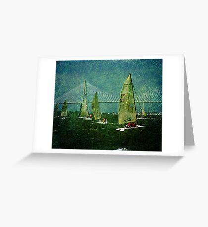 Sailing Regatta in Charleston SC Greeting Card