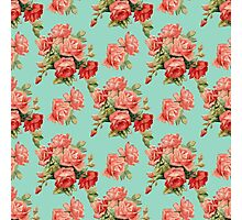 Vintage Rose Garden Flower Pattern Photographic Print