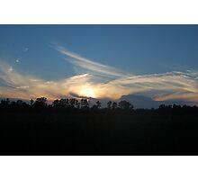 Late evening sky Photographic Print