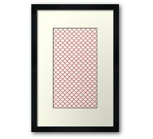 Red Fish Scale Pattern Framed Print