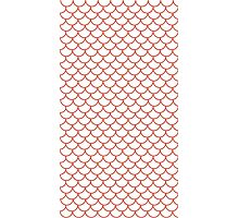 Red Fish Scale Pattern Photographic Print
