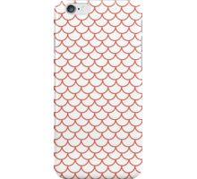 Red Fish Scale Pattern iPhone Case/Skin