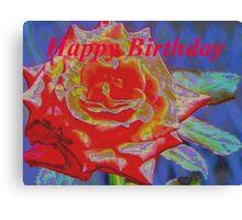 Peachy orange birthday rose Canvas Print