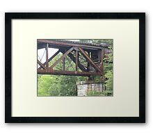 Railroad Trestle Framed Print
