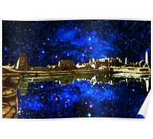 STARRY NIGHT: Sacred Lake, Karnak, Egypt Poster
