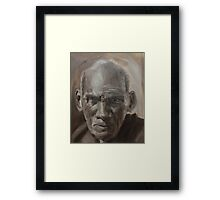"""""""Tough Character Lines"""" Framed Print"""