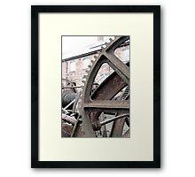Wheel yard Framed Print