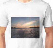 Sunsets over the water Unisex T-Shirt