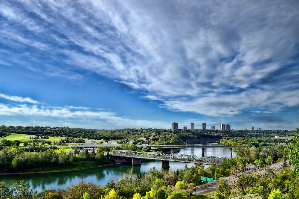 Edmonton Low Level Bridge and Valley by Myron Watamaniuk