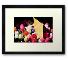 Carved Tulips Framed Print