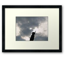 The TOWER of Contrast Framed Print