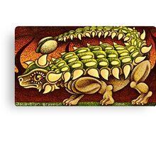 The Ankylosaurus Waltz   Canvas Print