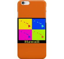 Colorful Hawaii State Pop Art Map iPhone Case/Skin