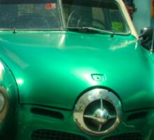 Green Studebaker  Sticker