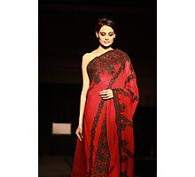 The red Sari Photographic Print