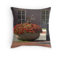 Charlestown Red Flowers Throw Pillow