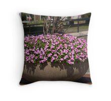 Charlestown Purple Flowers Throw Pillow