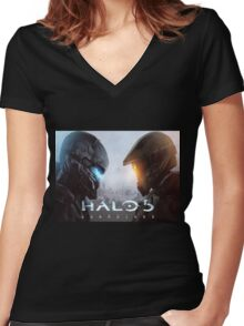 Halo 5 Guardians Women's Fitted V-Neck T-Shirt
