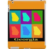 Colorful Georgia State Pop Art Map iPad Case/Skin