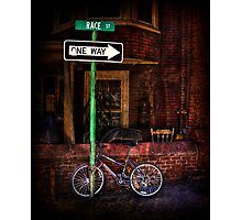 Slow Down on the Race Street Photographic Print
