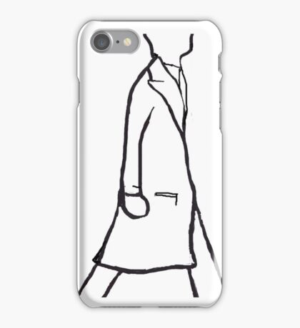 Menswear Silhouettes - The Long Coat iPhone Case/Skin