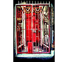 Red gates. Lomography Photographic Print