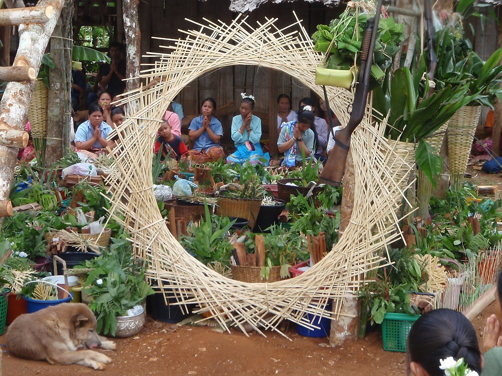 Shan village exorcism ritual, Mae Hong Son, Thailand by John Spies