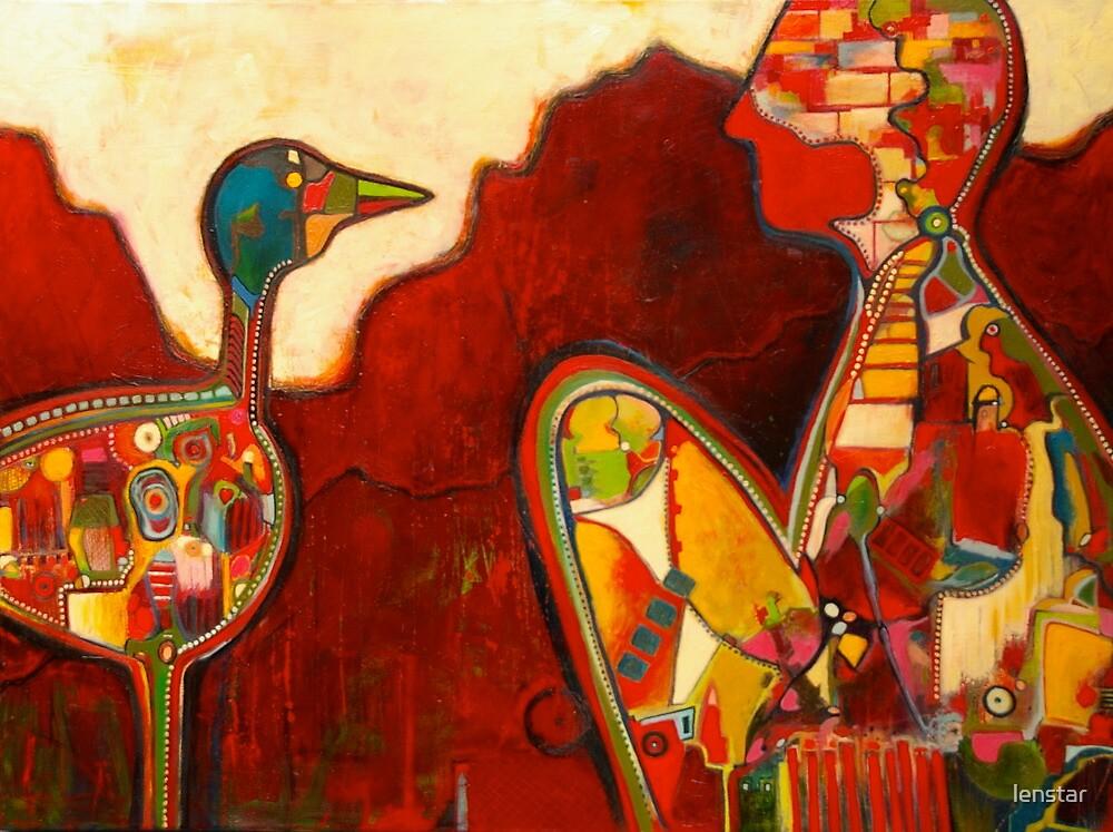 Talking to a bird isn't easy by lenstar