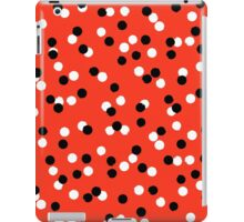 Ditsy colorful polka dot pattern in red, white and black iPad Case/Skin