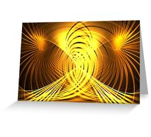 Golden Swirls Greeting Card