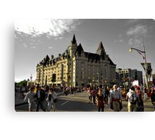 chateau laurier Canvas Print