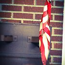 Canonsburg, PA: Flag on an Oil Barrel by ACImaging