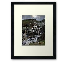 Mannum Falls 2010, (from above) Framed Print
