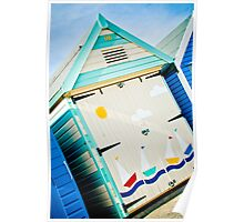 Beach Hut, Mudeford Poster