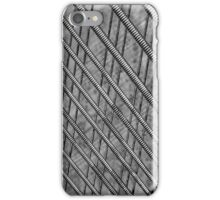 Old piano strings create an abstract work iPhone Case/Skin