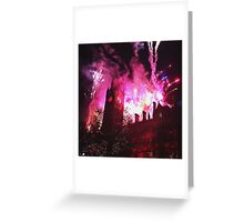 Manchester Christmas Lights Fireworks  Greeting Card