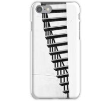 Staircase abstract in monochrome iPhone Case/Skin