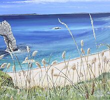 Durdle Door on a Sunny Day by Annie Lovelass