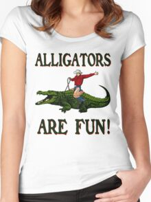 ALLIGATORS ARE FUN ! Women's Fitted Scoop T-Shirt