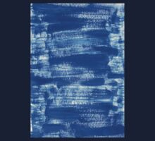 Cool & Calming Cobalt Blue Paint on White  One Piece - Long Sleeve