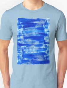 Cool & Calming Cobalt Blue Paint on White  Unisex T-Shirt