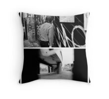one man and a view of his view Throw Pillow