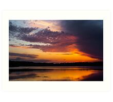 Contrasts in the Sky Art Print
