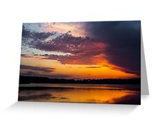 Contrasts in the Sky Greeting Card