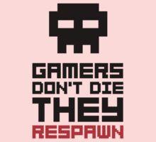 Pixel Skull Gamers Don't Die - Dark Version Baby Tee