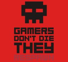 Pixel Skull Gamers Don't Die - Dark Version One Piece - Short Sleeve