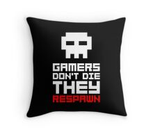 Pixel Skull Gamers Don't Die Throw Pillow