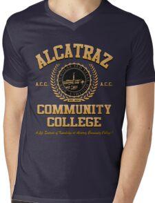 ALCATRAZ COMMUNITY COLLEGE Mens V-Neck T-Shirt