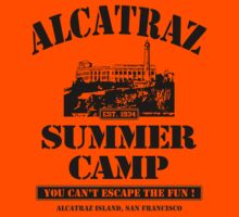 ALCATRAZ SUMMER CAMP blk T-Shirt