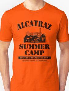 ALCATRAZ SUMMER CAMP blk Unisex T-Shirt